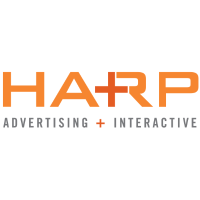Large harp advertising logo
