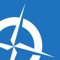 Large navigation north square icon
