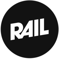 Large round rail logo black