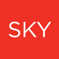 Large sky advertising logo