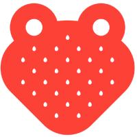 Large strawberryfrog logo