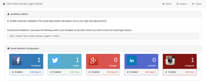 One Click Social Login Shopify App