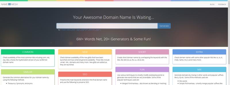 Name Mesh Domain Name Generator
