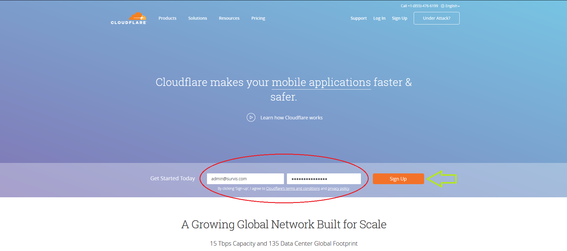 Cloudflare Registration - Select User/Pass